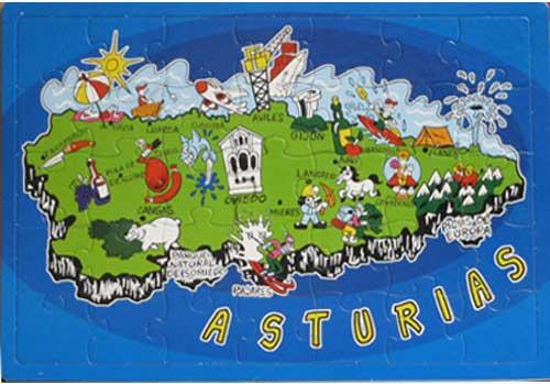 Mapa de Asturias