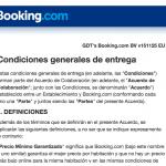Condiciones Booking.com